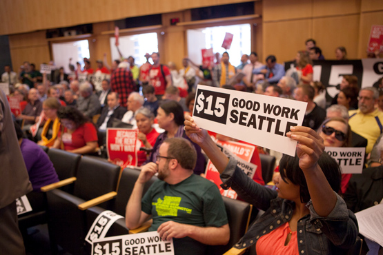 Seattle City Council Passes Historic $15/hour Minimum Wage Ordinance