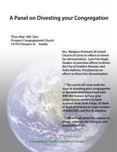Releasing Immoral Money: Divesting your Congregation from Fossil Fuels