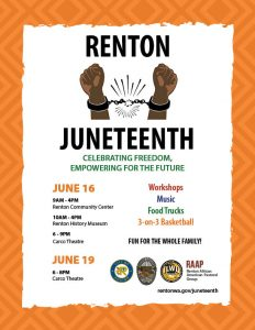 Juneteenth in Renton @ Renton - multiple locations
