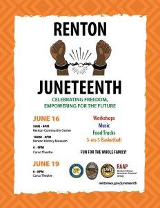 Juneteenth in Renton @ Renton - multiple locations