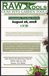 Guns to Garden Tools Service @ Lake Burien Presbyterian Church