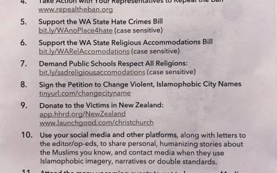 Statement of the Church Council of Greater Seattle After Attack at Two Mosques in New Zealand
