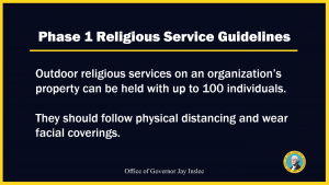 phase 1 religious guidelines