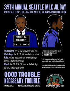 39th Annual Seattle MLK Jr. Day @ Online & Garfield High School