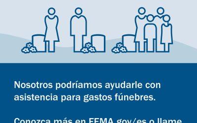 COVID-19 Funeral Assistance Available // Asistencia Funeraria está Disponible