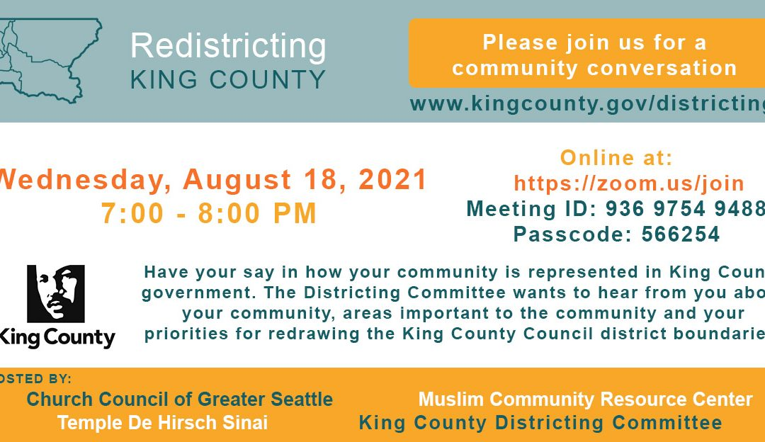 8/18 Online Event: Redistricting King County